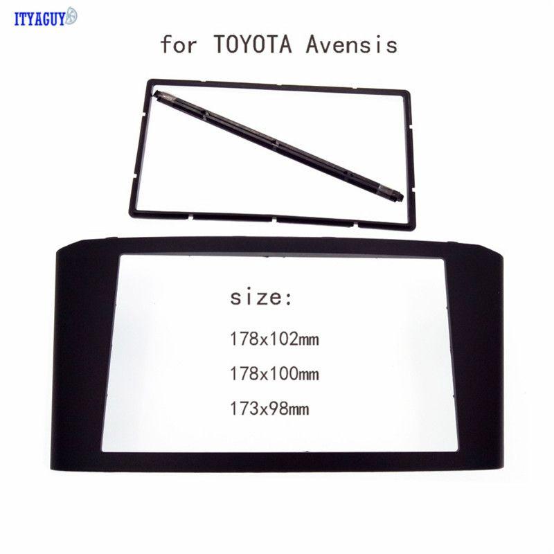 Car Radio Fascia for TOYOTA Avensis Facia Panel Stereo Face Plate Audio Bezel Facia dash Mount Kit Adapter Trim 2din DVD Frame