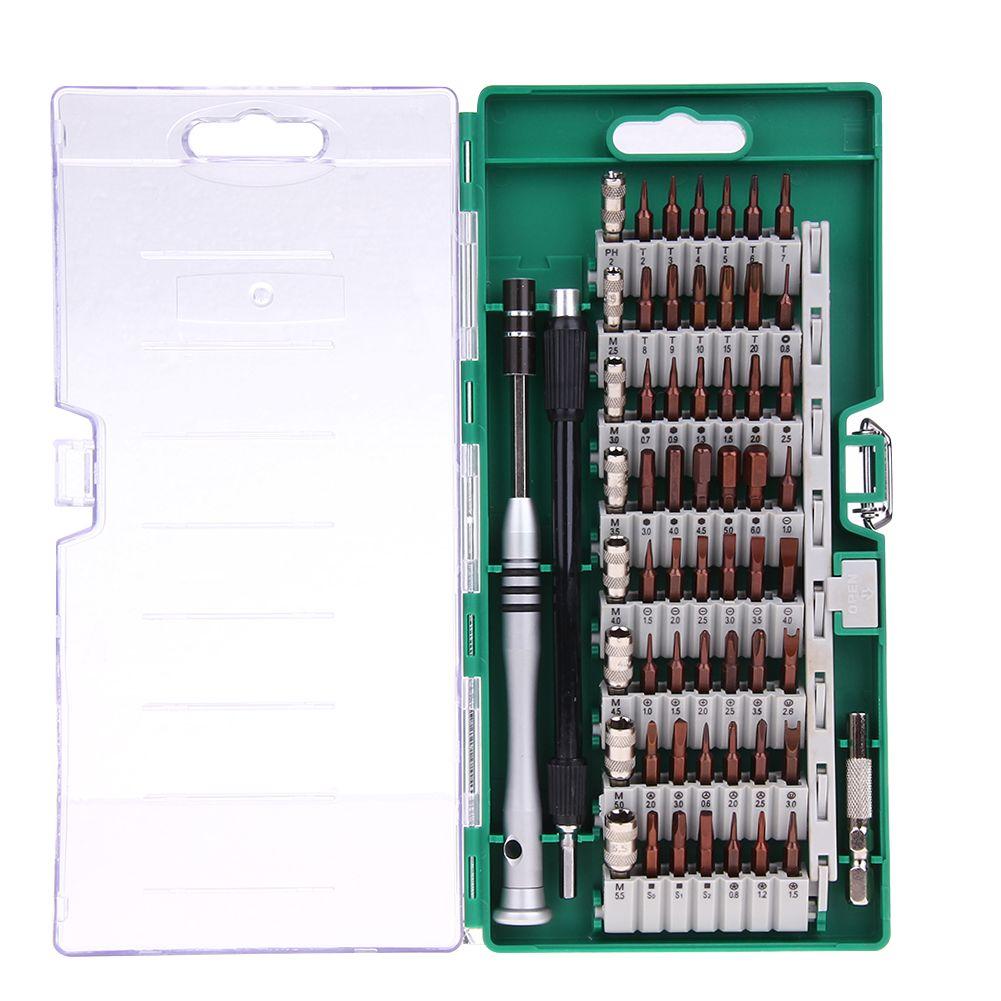 Nouveau Kit d'outils de tournevis de précision 60 en 1 jeu de tournevis magnétique pour tablette de téléphone portable réparation compacte entretien avec étui