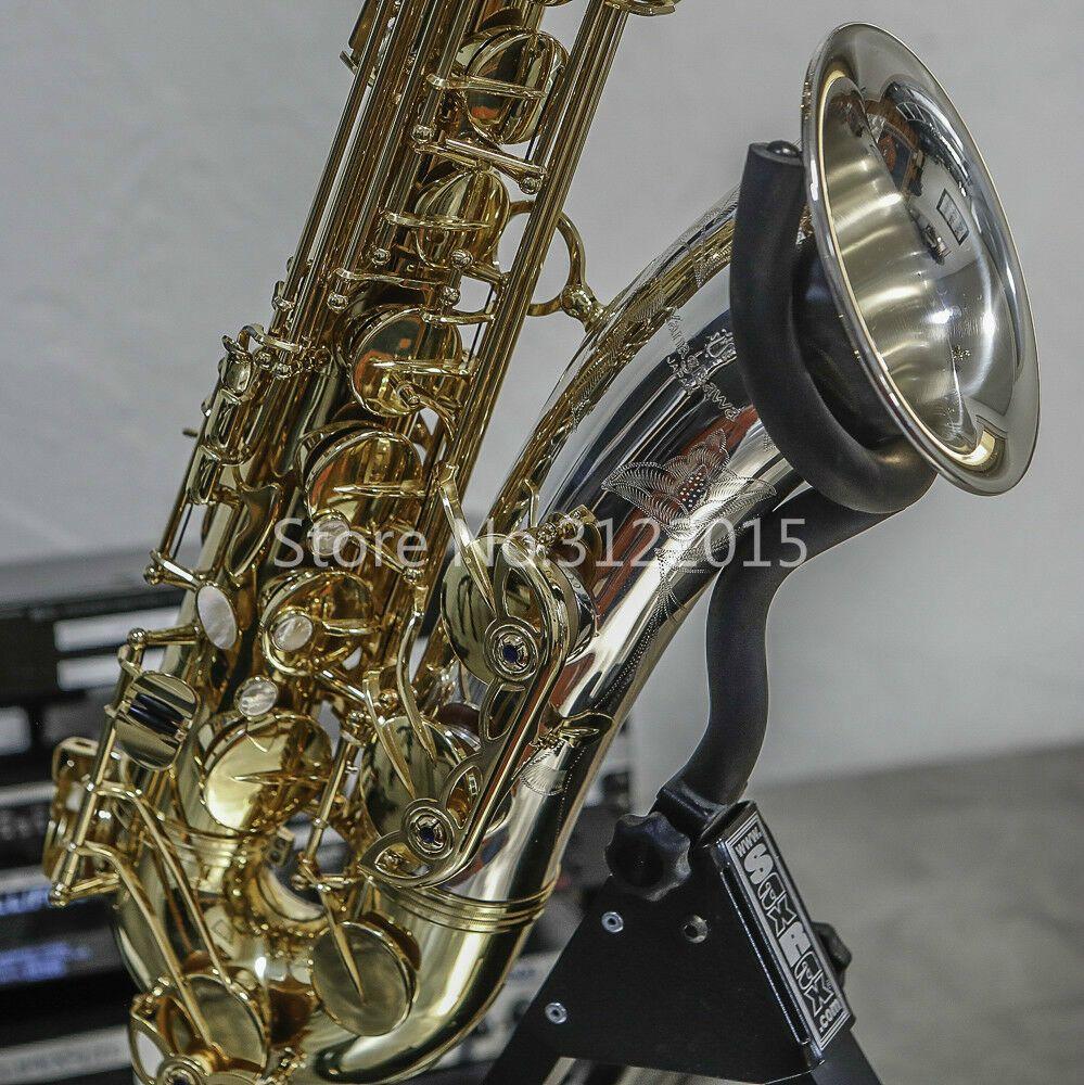 Neue YANAGISAWA T9933 Bb Tenor Saxophon Messing Körper Gold und Silber Überzogene B Flache Musik Instrument Sax mit Fall Zubehör