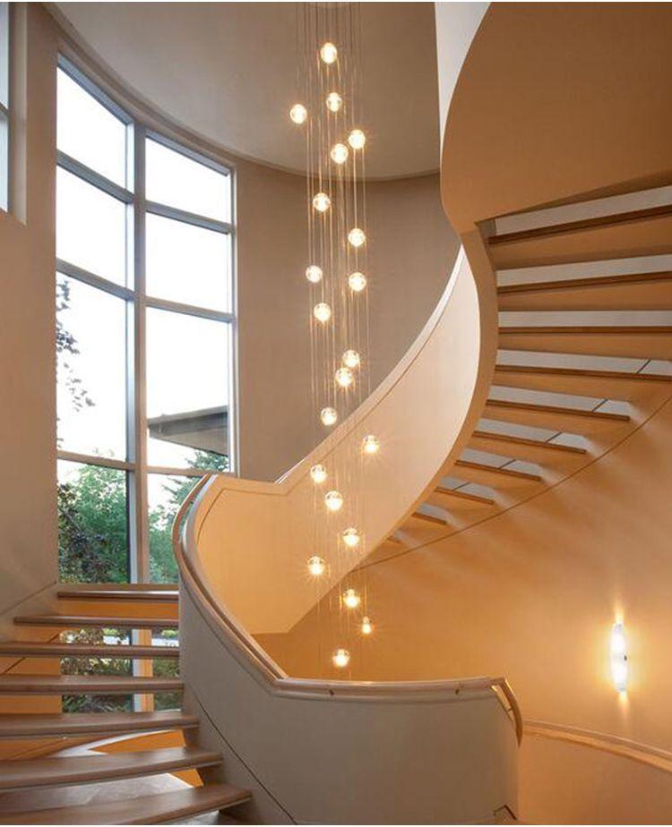 Phube Lighing LED Meteor Shower Crystal Chandelier Light Fixtures Stairwell Chandelier Modern Foyer Chandeliers 26 Light