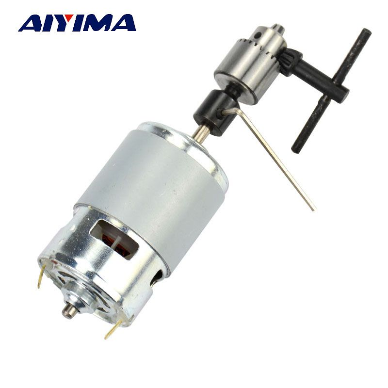 AIYIMA 1pcs New DC 12-24V 775 Miniature Mini Drill Perforated Angle Grinder Cutting Machine Electric Motor For Polished Drilling
