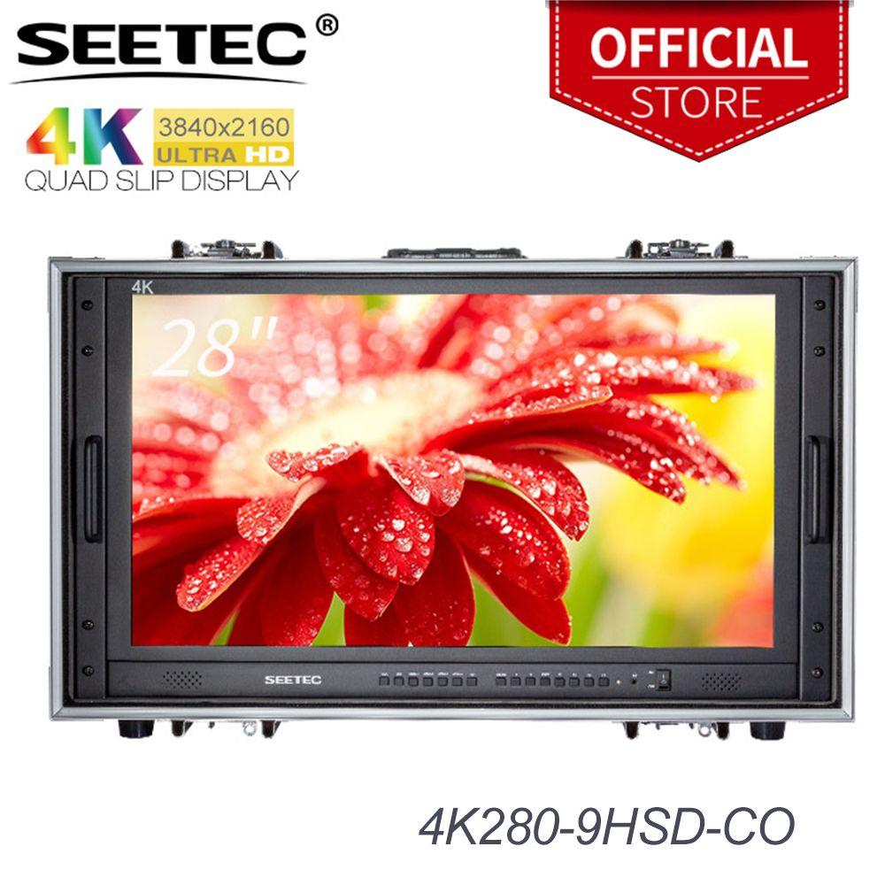 Seetec 4K280-9HSD-CO 28 Zoll 4 K Broadcast-Monitor für CCTV Überwachung, Der Filme Ultra HD Tragen-auf LCD Direktor monitor