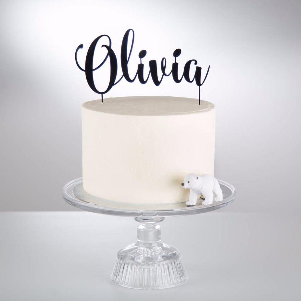 Personnalisé Acrylique Gâteau Topper Personnalisé Nom Joyeux Anniversaire Gâteau Topper articles de fête D'anniversaire D'enfants décoration de fête