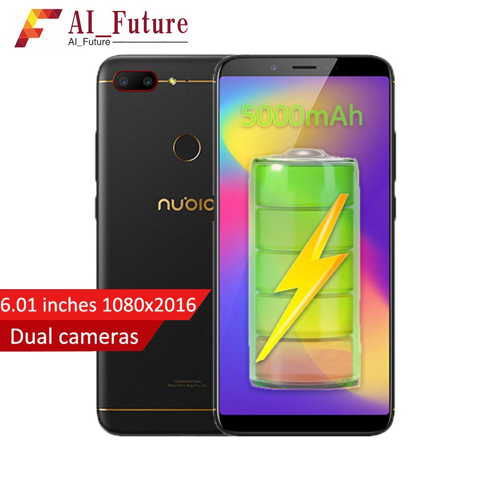 2018 Original ZTE Nubia N3 Mobile Phone 4GB RAM 64GB ROM 5000mAh 6.01inch Snapdragon 625 Octa Core Fingerprint ID Android7.1