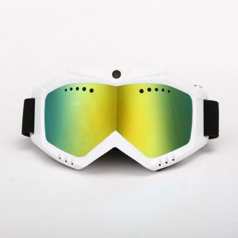 HD 1080 p Kamera mit Ski-Sonnenbrille Goggles mit Bunten Anti-Fog-Objektiv für Ski oder Transparente Linse für Moto Kostenloser Versand