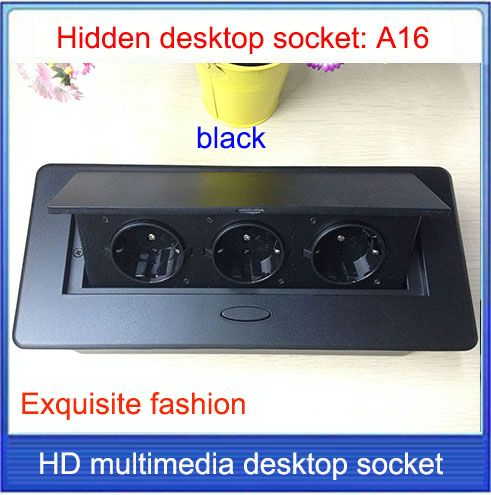 Eu-stecker tischsteckdose/versteckte/dämpfungsfeder öffnen informationsmedium/Büro konferenzraum High-grade buchse/A16