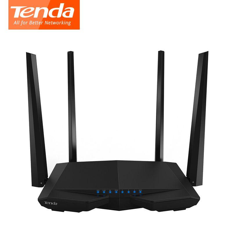 Tenda AC6 1200 Мбит/с беспроводной маршрутизатор Wi-Fi 11AC Dual Band 2.4 ГГц/5.0 ГГц Wi-Fi ретранслятор приложение дистанционное управление английский прошивк...