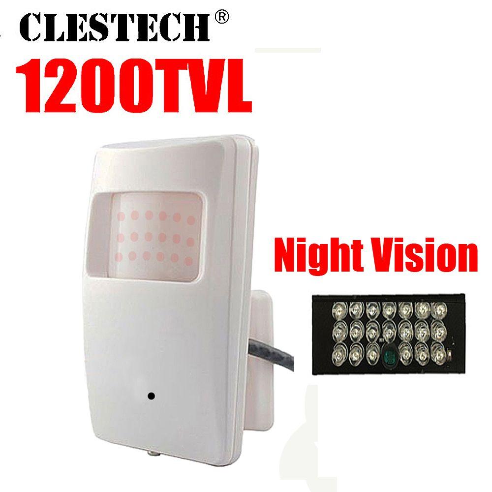 Nouveau cône Vision nocturne 20 m sonde infrarouge ahdl HD mini caméra 1/3 CMOS 1200TVL 18led CCTV Surveillance de sécurité couleur 3.7mm lentille