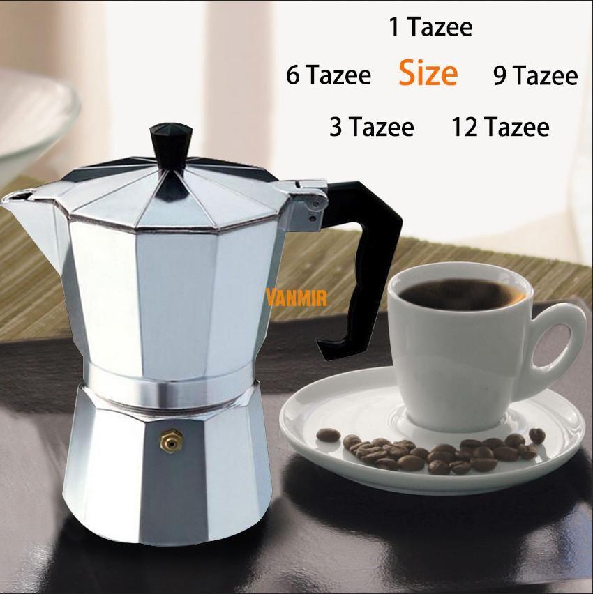 Moka Espresso Coffee Maker Machine /glantop Aluminum 1cup/3cup/6cup/9cup/12cup Italian Stove Top//percolator Pot Tool