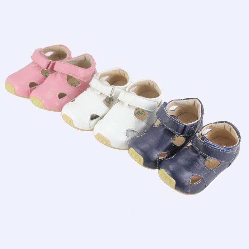 Tipsietoes марка качества кожаные детские мокасины Босоножки для Обувь для мальчиков и девочек новый 2018 Лето 63102 Sapato Infantil