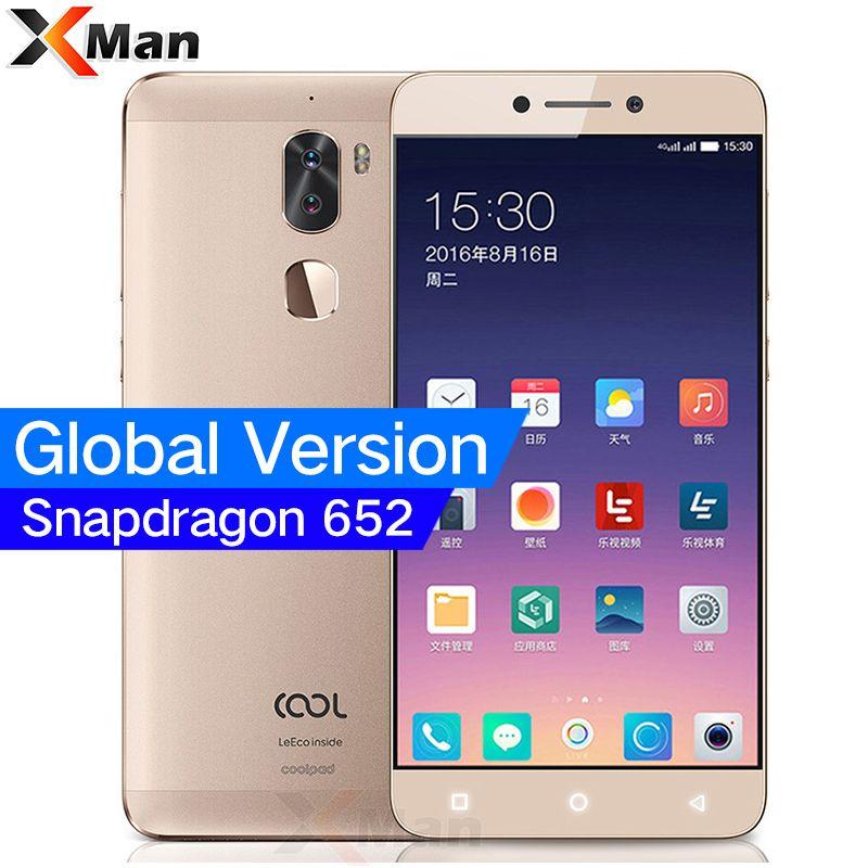 Global Version Original Leeco Cool 1 Dual Letv Coolpad Cool 1 3GB/4GB RAM <font><b>32GB</b></font> Snapdragon 652 Mobile Phone 5.5 13MP Dual Camera