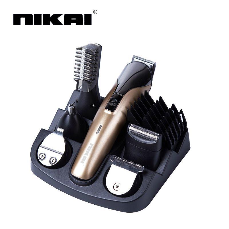 6 In1 Electric Titanium Hair cutting machine Rechargeable hair clipper Hair trimmer beard trimmer hair cut machine for trimming