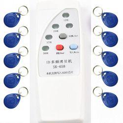 4 frequency RFID Copier Duplicator Cloner ID EM EM4305 t5577 5200 reader writer+ 10pcs EM4305 T5577 5200 writable keyfob