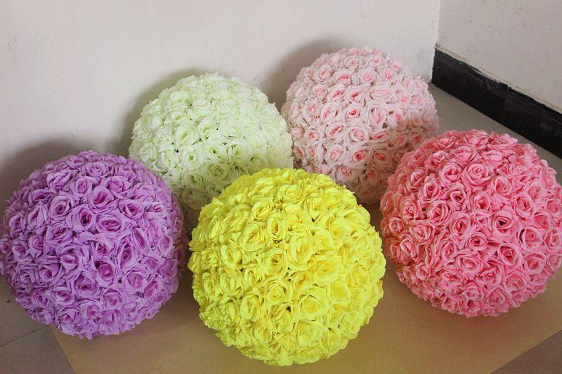 12 pouces mariage soie Pomander baiser boule fleur boule décorer fleur artificielle pour mariage jardin marché décoration