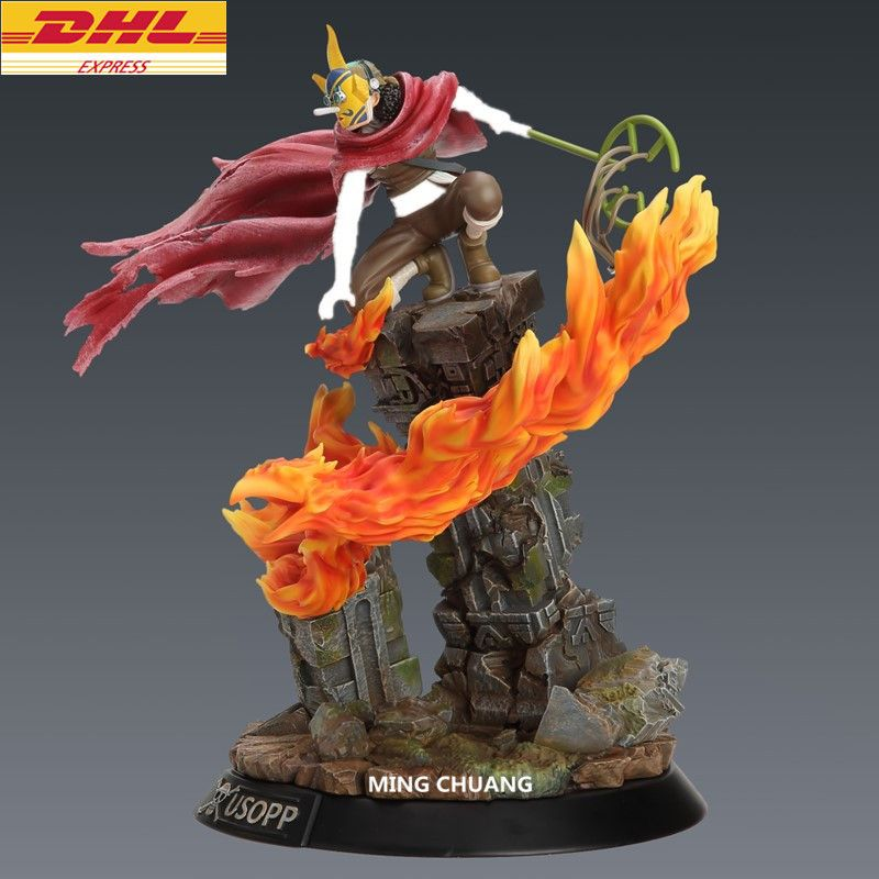 Statue ONE PIECE The Straw Hat Pirates Sniper Usopp Bust SD 39CM GK Action Figure Collectible Model Toy BOX D638