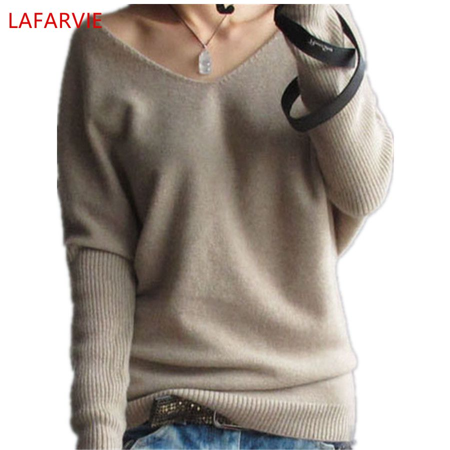 Hot Sale Soft & Comfortable Bat-like Pullovers Female <font><b>Cashmere</b></font> Sweater Pure Casual V-neck Short Design Basic Knitted Pullovers
