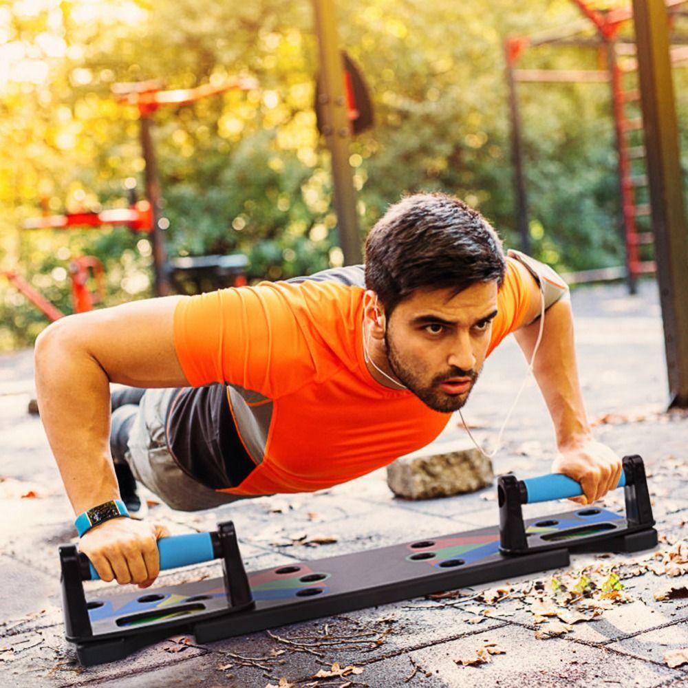 100% Original Push Up Rack Board système exercice entraînement Push-Up Stands musculation 4 modes GYM outils avec poignées