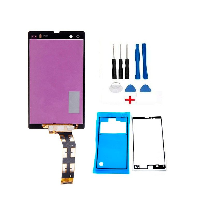 Good Quality Repair Parts for Sony Xperia Sony Z L36 LT36 C6602 C6603 LCD Display+Touch Screen Digitizer Assembly+Tools+Tape