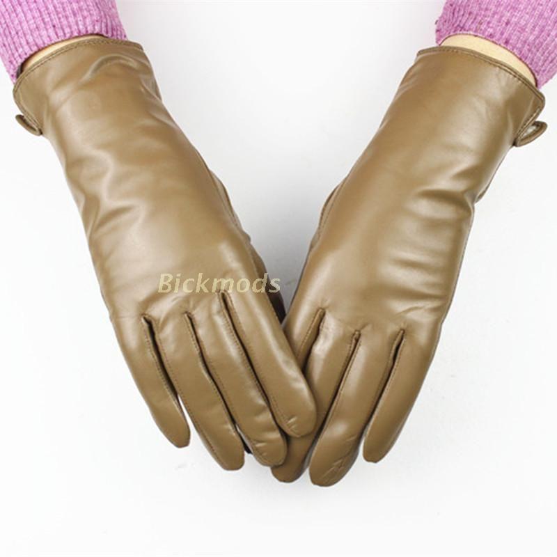 2017 женские кожаные Перчатки разнообразие цветов овчины Перчатки прямой шерстяной подкладкой Весна и осень теплые Перчатки