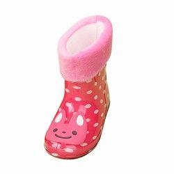 Детские Непромокаемые Сапоги весна-осень-зима, обувь для мальчиков и девочек, детские резиновые сапоги на плоской подошве с изображением жу...