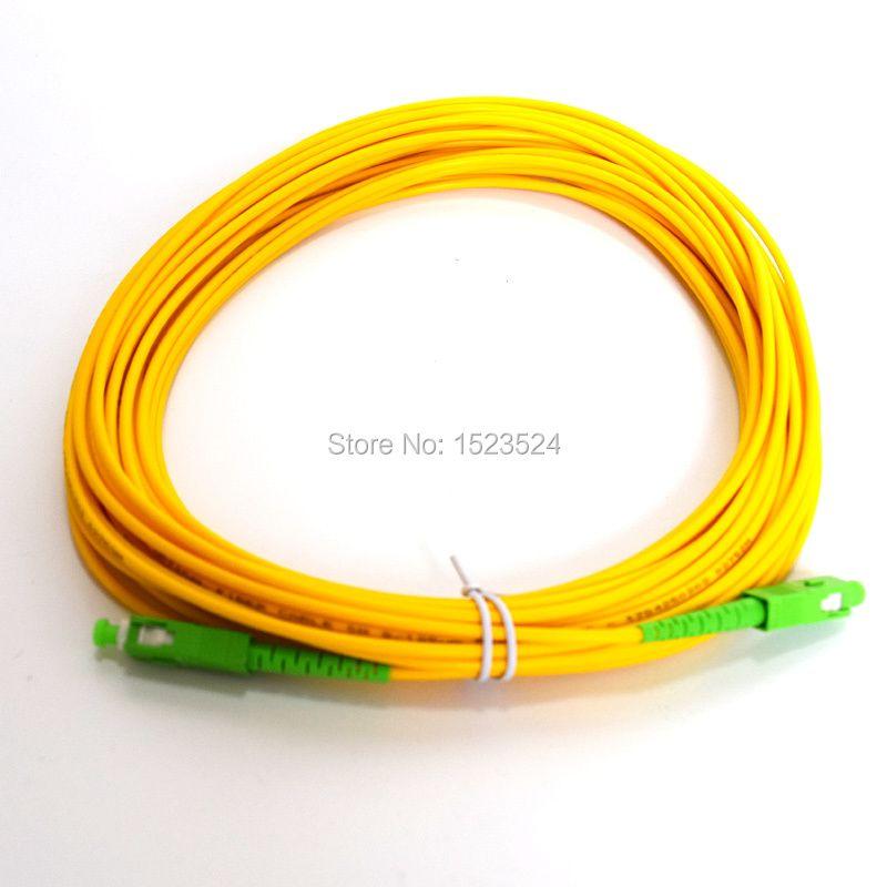 SM SX PVC 3mm 15 Meters SC/APC Fiber Optic Jumper Cable SC/APC-SC/APC Fiber Optic Patch Cord