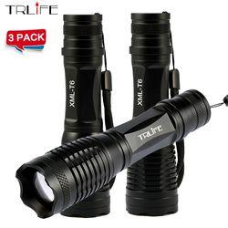 1/2/3 PCS CREE XML T6/L2 6000LM cree led Torche Zoomables CREE LED Lampe Torche lumière Pour 3 piles aaa ou 1x18650 Batterie