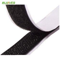 RLJLIVES 2 Rouleaux 2 cm * 1 m Noir Crochet et Boucle Auto-Adhésif Fixation Forte Bande Crochet et Boucle ruban adhésif