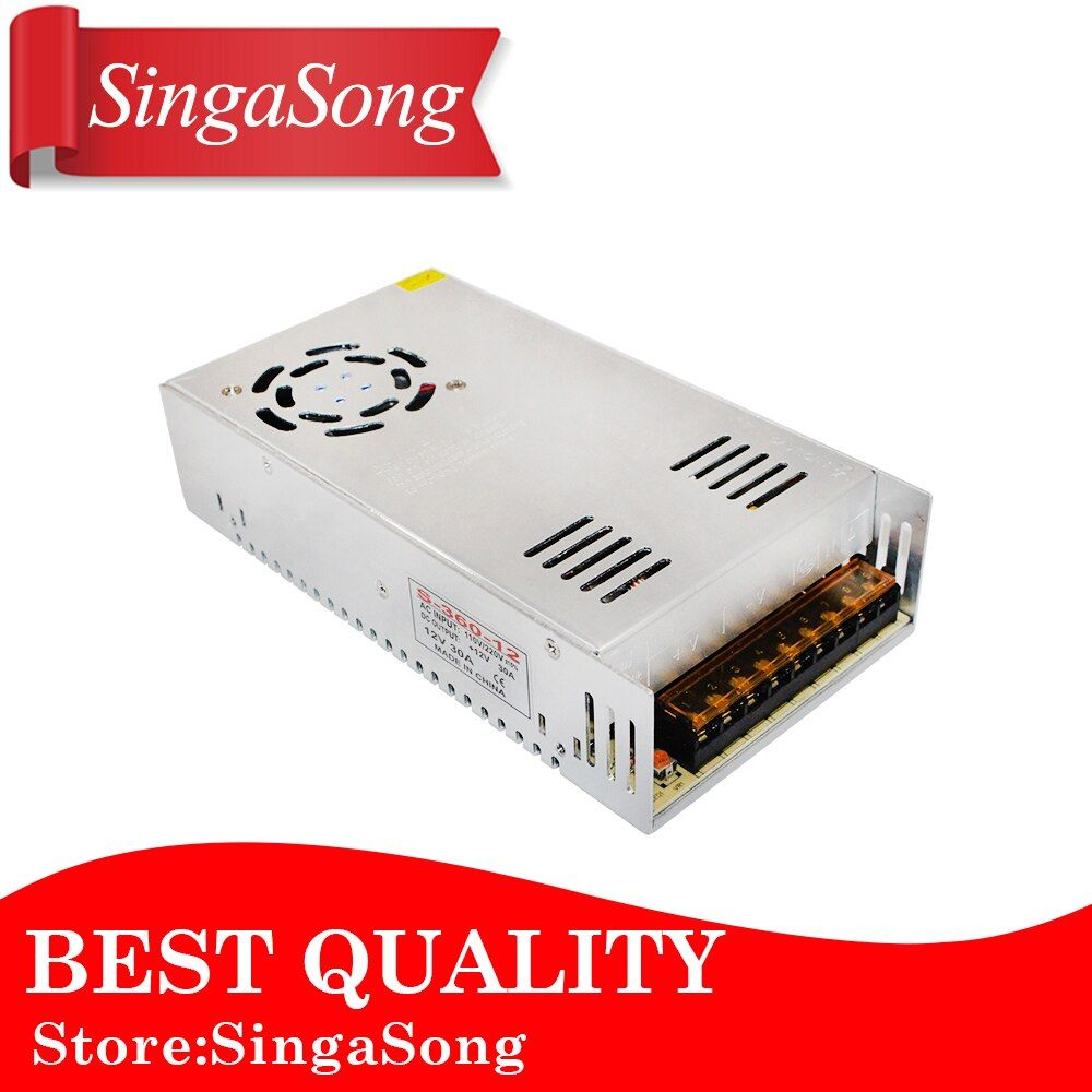 12V 30A 360W Switching power supply Driver For LED Light Strip Display AC200-240V Free shipping