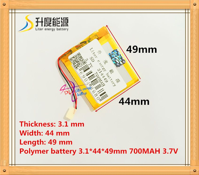 Size 314449 3.7V 700mah Lithium polymer Battery with Protection Board For MP4 PSP Digital Products Free Shipping