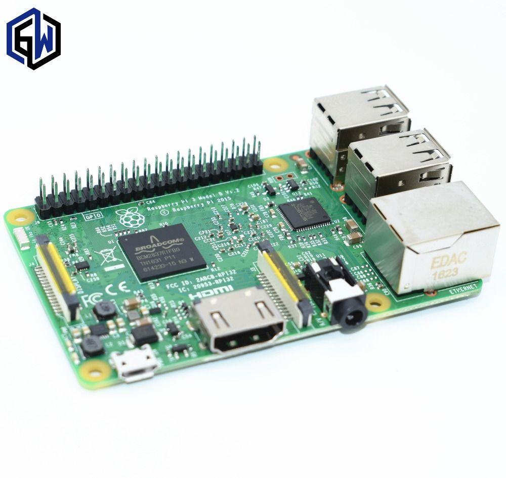 Original raspberry pi 3 modèle b/raspberry pi/framboise/ip3 b/pi 3/pi 3b avec wifi et bluetooth