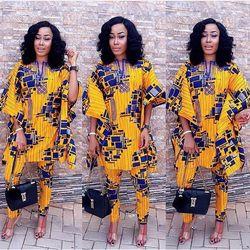 H & D 2019 African Cocok untuk Wanita Pakaian 100% Cotton Bazin Dicetak Dashiki Jubah Dashiki Atasan Celana Cocok untuk wanita Lilin Pakaian
