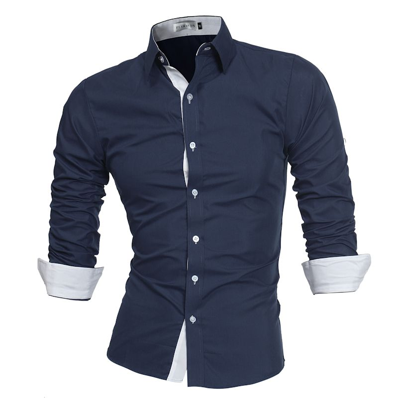 Lacontrie Men Shirt Brand 2017 Male High Quality Long Sleeve Shirts Casual Slim Fit Black Man Dress Shirts Plus Size 4XL