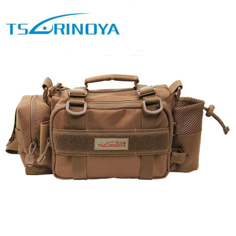 Trulinoya 35*14*16,5 cm multifunktions Angeltasche 2000D Nylon Außen Taille Angelgerät Tasche Schulter Peche Carpe Zubehör