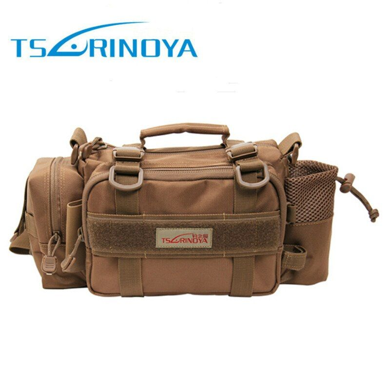 Trulinoya 35*14*16.5cm Multi-function Fishing Bag 2000D Nylon Outdoor Waist Fishing Tackle Bag Shoulder Peche Carpe Accessoires