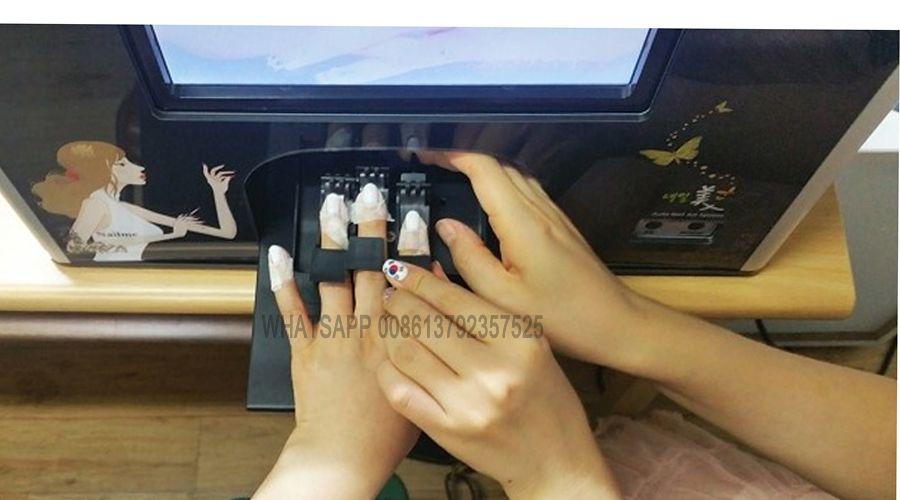 Nageldrucker professionelle Diy nail art 10 zoll touchscreen 5 hände nägel druck eine zeit