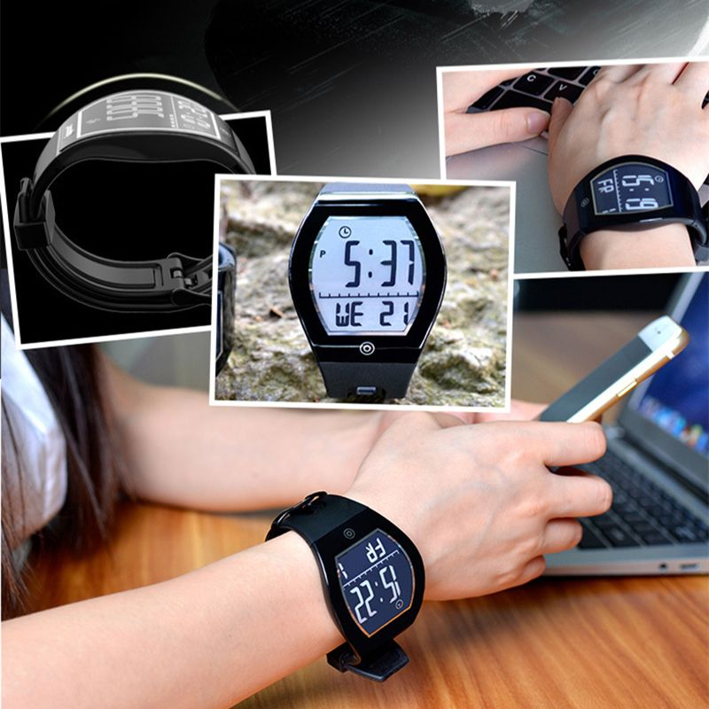 Fitness Pedometer Bluetooth Smart E-ink Display Wearable Health Outdoor Sport watch