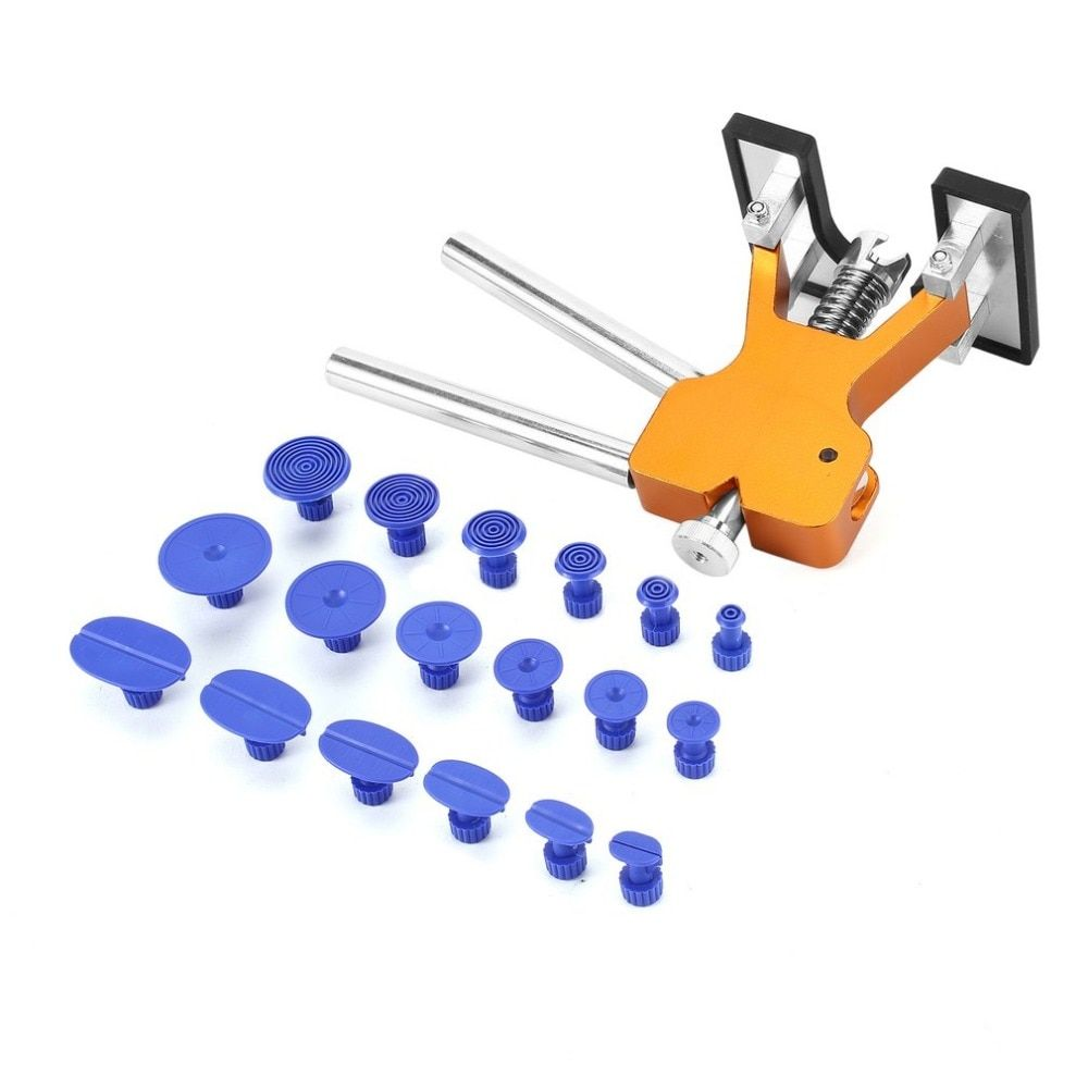 Paintless Auto Body Dent Removal Repair Tools Kit with 18 Pcs Glue Puller Tabs for Car Hail Damage Repair Automotive Dent Lifter