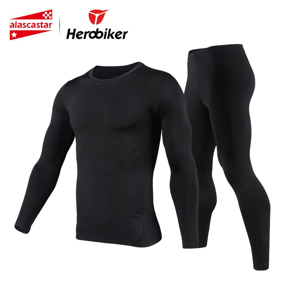 New Men Fleece Thermal Underwear Outdoor Sport Motorcycle Skiing Winter Warm Base <font><b>Layers</b></font> Tight Long Johns Tops & Pants Set