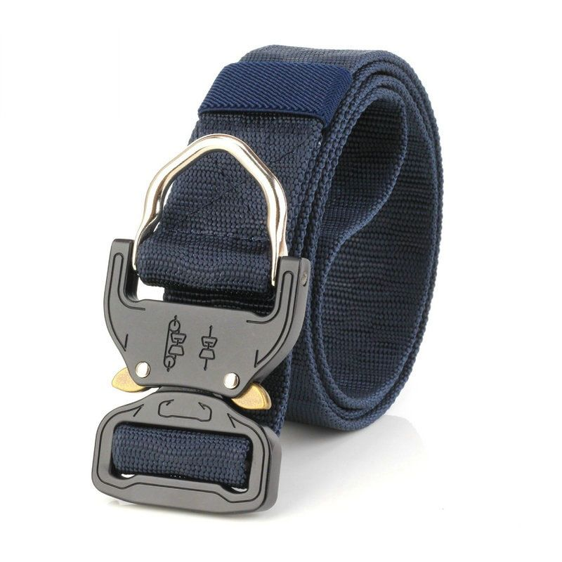 New Cobra Buckle Tactical Belt 3.8cm High Quality Nylon 120cm Casual Canvas Belt For Men And Women Camouflage Military Belt HE17