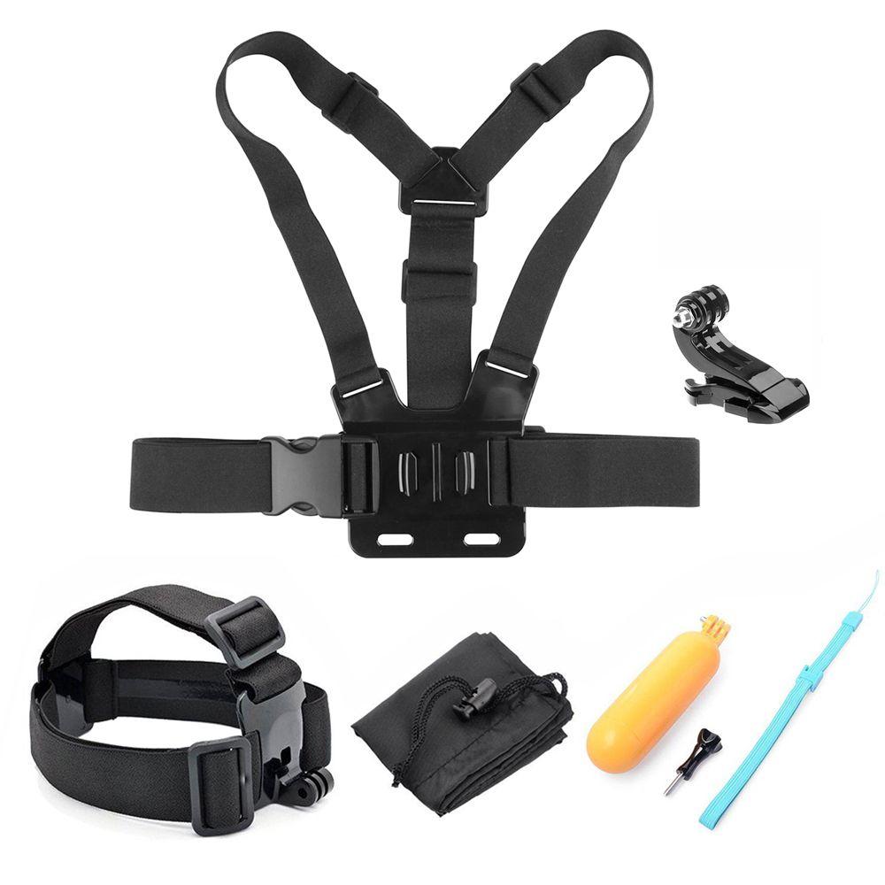 SHOOT Action Camera Accessories for GoPro Hero 6 5 4 3 Xiaomi Yi 4K SJCAM SJ7 Eken h9 Go Pro Mount Grip Harness Chest Head Strap