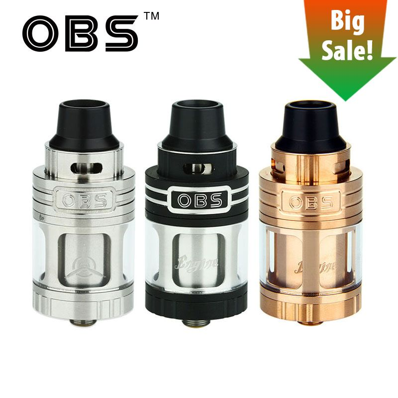 Original OBS Engine RTA Tank 5.2ml Capacity 25mm diameter Top Airflow Control & Side filling Vape Atomizer for e cigs Box Mod
