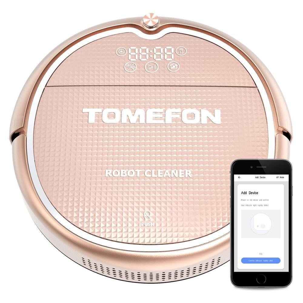 TOMEFON TCN805 Roboter-staubsauger Sweep & Wet Mop Navigation Geplant Reinigung Mülleimer Wasser Tank Einstellbare Zeitplan Haushalt