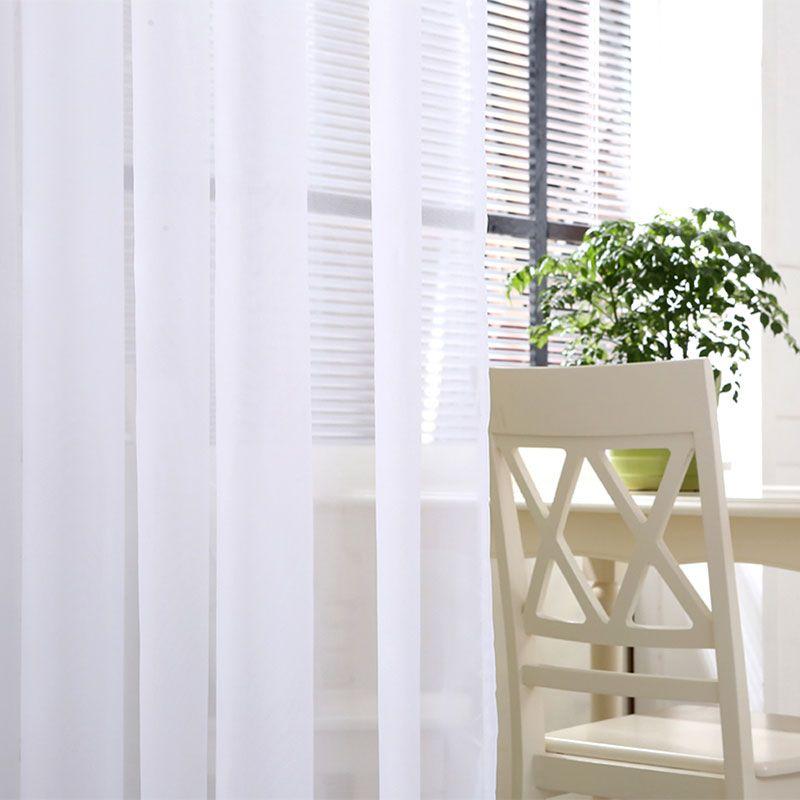 Rideaux en Tulle blanc pour salon Translucidus moderne maison fenêtre traitements rideaux transparents cuisine simple panneau TG1501