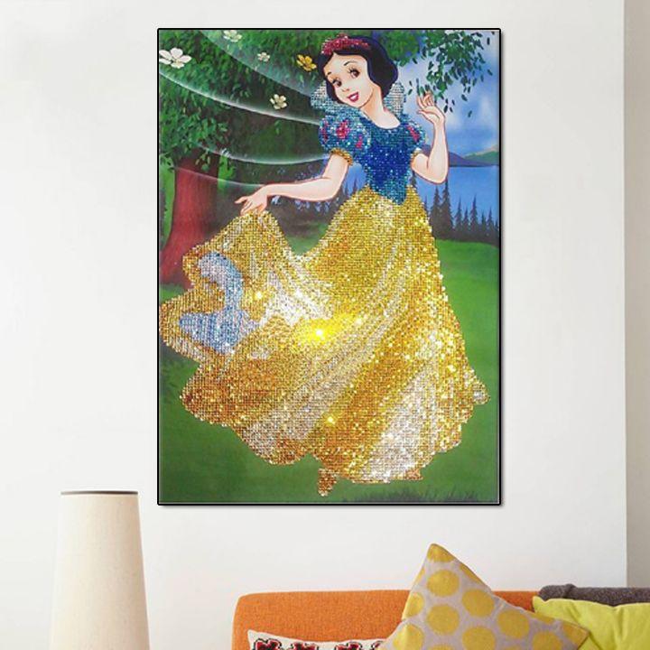 Сделай Сам алмаз Вышивка рукоделие Белоснежка Принцесса 3D алмаз картина мозаика вышивки крестом комплект полный квадрат горный хрусталь у...