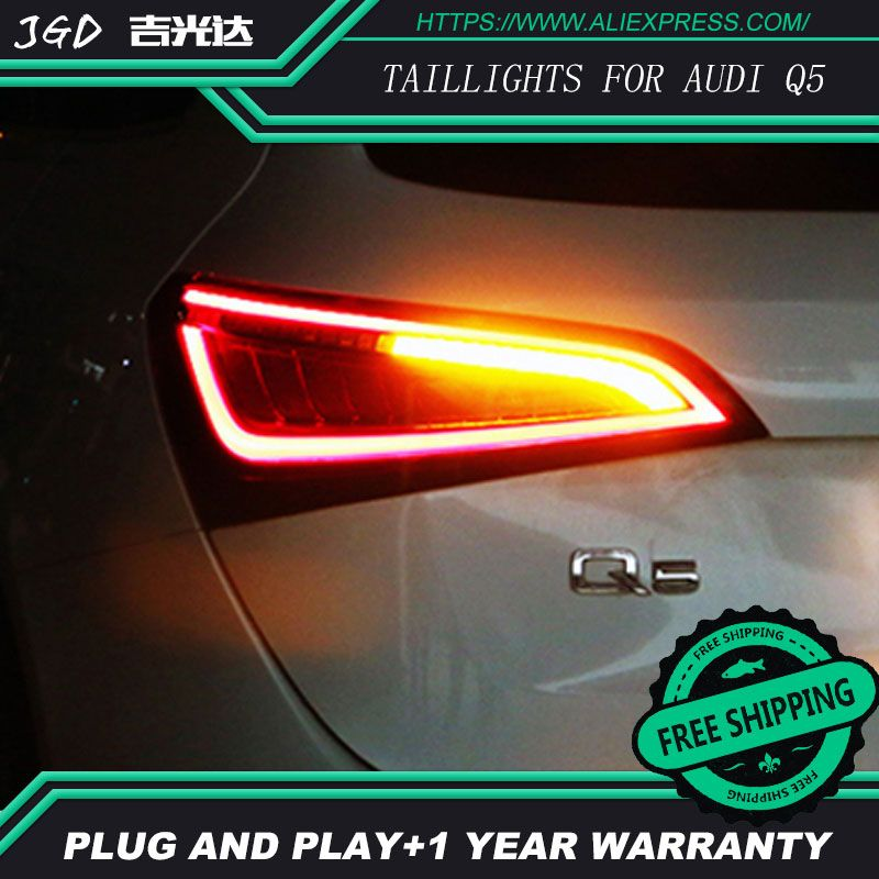 Car Styling taillight tail lights for Audi Q5 2009-2015 LED Tail Lamp rear trunk lamp cover drl+signal+brake+reverse taillights