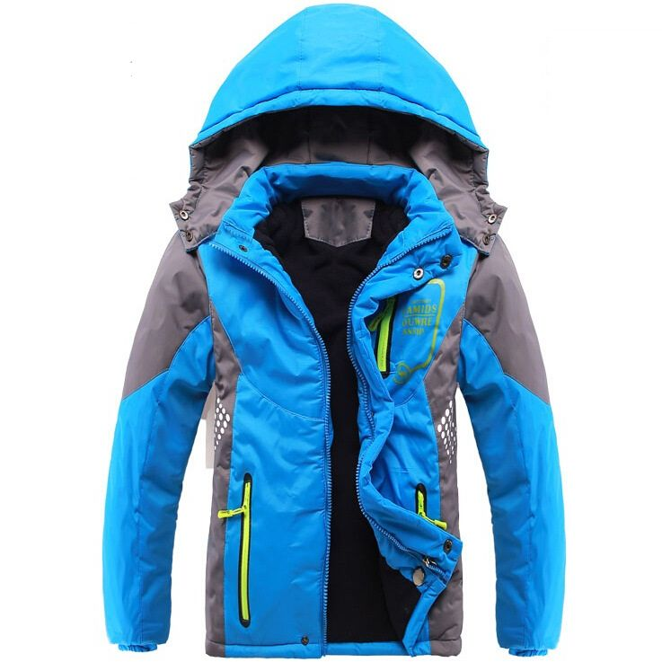Winter Thicken Children Outerwear Warm Coat Sporty Kids Clothes Double-deck Windproof Boys Girls Jackets For 3-14 Years Old