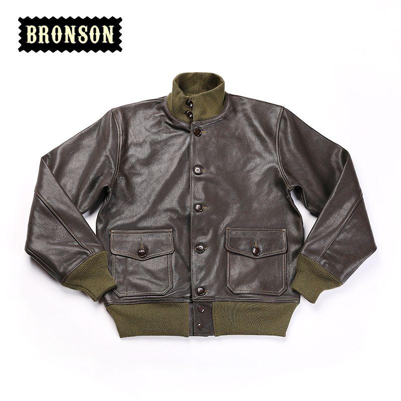 READ THE DESCRIPTION US air force A1 goat skin vintage leather jacket