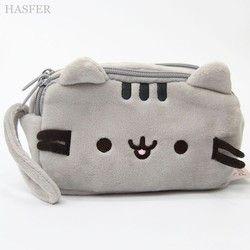 Creative Pusheen cat Pencil case Cute plush pen bag pouch kids gift korean Stationery school supplies escolar