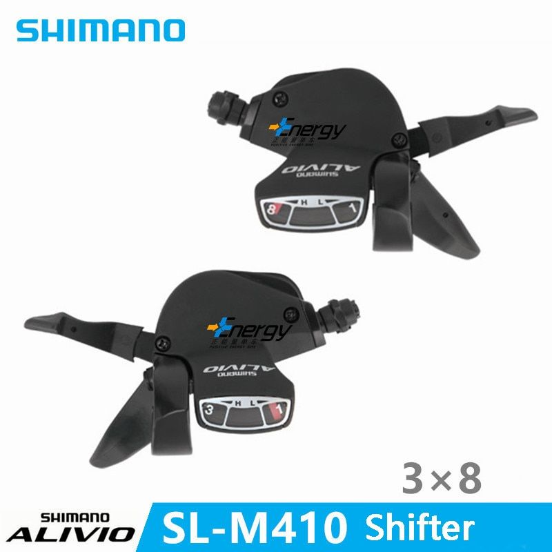 <font><b>SHIMANO</b></font> ALIVIO Bicycle Parts SL-M410 MTB Shifter TRANSMISSION Thumb Shift Shifter Control Handle Gearbox Switch 3 * 8 Speed