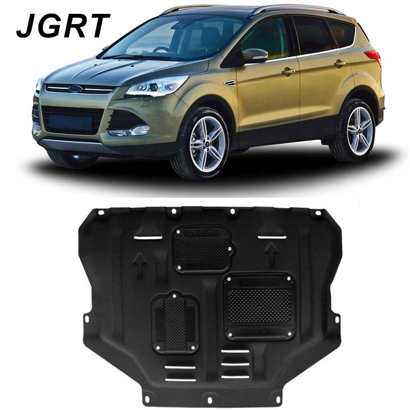 Auto styling Für Ford Escape kunststoff stahl motor schutzfolie Für Escape 2013-2018 motorschutzblech fender 1 stück